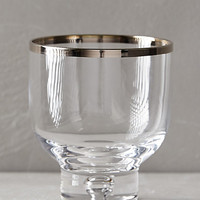 Astra Glassware by Anthropologie Silver Old Fashion Glasses