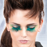 Other Fashion Accessories (Baci): Turquoise Feather Eyelashes.