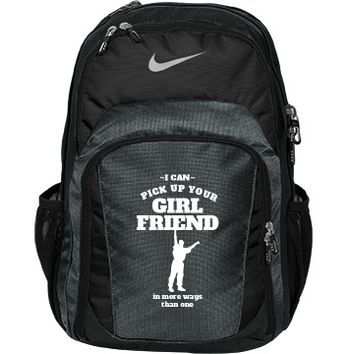 Funny Male Cheerleader: Custom Nike Premium Performance Backpack Bag - Customized Girl