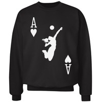 Volleyball Ace of Courts Player Sweater Sweatshirt Jumper