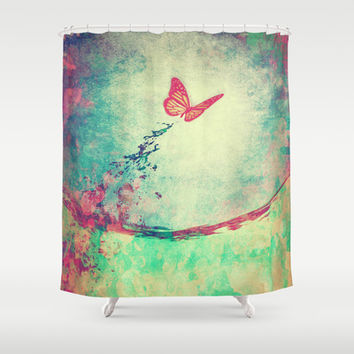 Waterfly II Shower Curtain by SensualPatterns