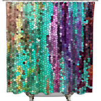 Morning Mosaic by Catherine Holcombe Fabric Shower Curtain