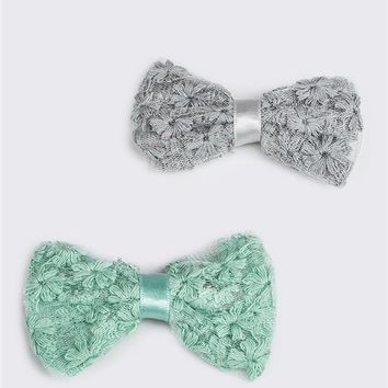 Lace Bow Hair Clips