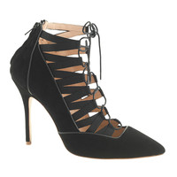 COLLECTION LACE-UP CAGED PUMPS