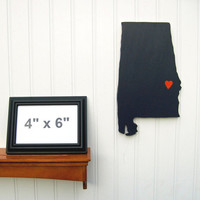 "Auburn Tigers  ""State Heart"" wall art, handcrafted wood featuring official team colors"