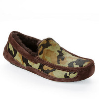 UGG Australia Men's Ascot Calf Hair Camo Slippers Shoes 1003568 at BareNecessities.com