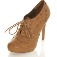 SHADOW Tan Brogue Town Shoe. - View All - New In - Miss Selfridge