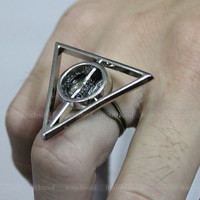 Harry potter Deathly Hallows adjustable RING