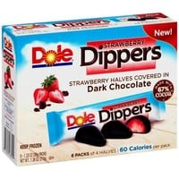 Dole Strawberry Dippers, 1.23 oz, 6 count - Walmart.com