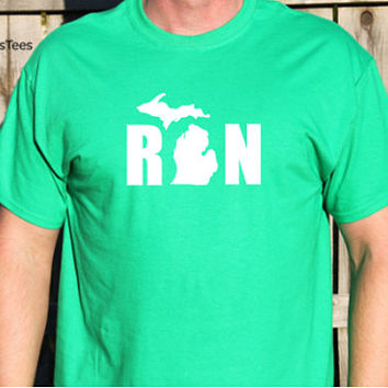 Run Michigan Shirt, Running Michigan Shirt, Runner Shirt