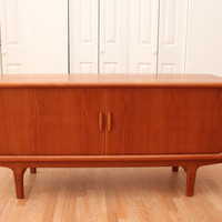 An Orange Moon — Danish Teak Credenza