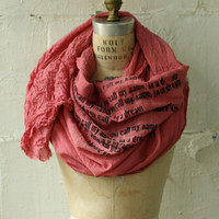 artLAB Honeysuckle Scarf i heard you call my name in a by artlab