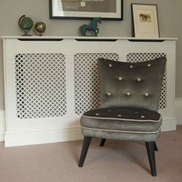 Grey Velvet Armchair  Magpie Home &amp; Interiors