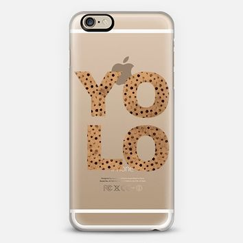 GOLD YOLO - CRYSTAL CLEAR PHONE CASE iPhone 6 case by Nika Martinez | Casetify