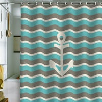 Bianca Green Anchor I Shower Curtain | DENY Designs Home Accessories