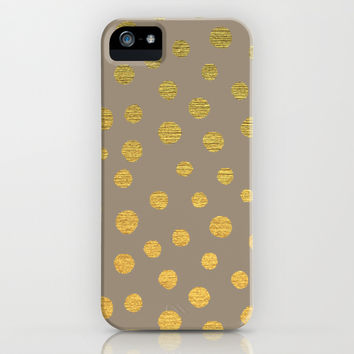 FANCY GOLDEN DOTS iPhone & iPod Case by Colorstudio