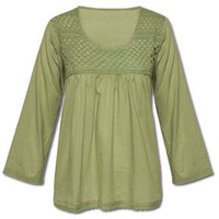 NEW! Tea Leaf Crochet Kurta: Soul-Flower Online Store
