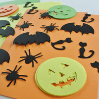 DIY Halloween Card Craft Kit for Kids Children, Kids Halloween Card Kit, Halloween Birthday Party Craft, Halloween Goody Bag Gift, Set of12
