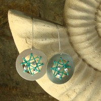 Dreamcatcher Earrings Summer Teal R.. on Luulla