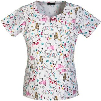 Buy Cherokee Women's Breast Cancer Awareness Round Neck Printed Top for $17.45
