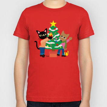 Whim and Sam's Christmas Kids T-Shirt by BATKEI