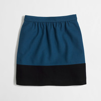 Factory colorblock skirt in double-serge wool : Mini & A-Line | J.Crew Factory
