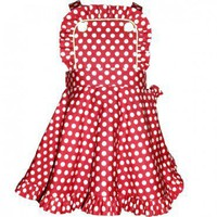 Audrey Dress in red polka. $40