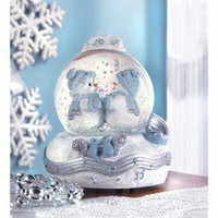 Snowbuddies Waltz Musical Snowglobe Christmas Figurine  - Snowman Figures