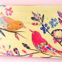 Vintage Birds Wood Block Print on Luulla