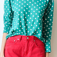 tea and tulips boutique - one of a kind vintage. — polka dots forever sweater
