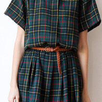 tea and tulips boutique - one of a kind vintage.  pretty plaid dress