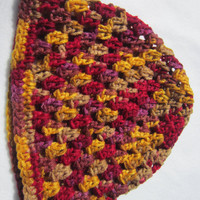 Crochet Hat Women Teen Girls Fall Colors