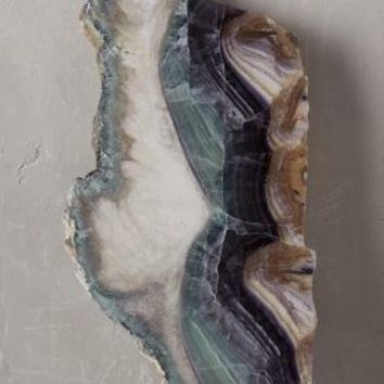Natural Fluorite Crystal by Anthropologie Neutral One Size Decor