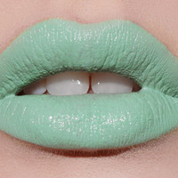Mint To Be pastel mint green lipstick