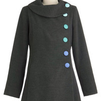 Mod for It Coat in Grey | Mod Retro Vintage Coats | ModCloth.com