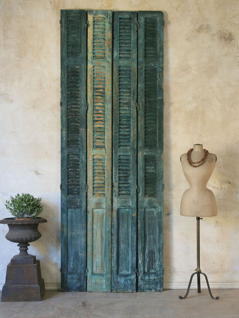 Antique Panelled Shutters from European Villa