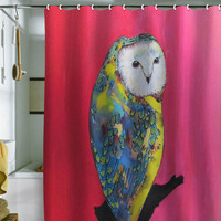 DENY Designs Home Accessories | Clara Nilles Owl On Lipstick Shower Curtain