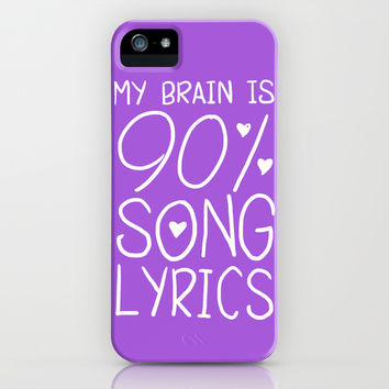 90% Song Lyrics iPhone & iPod Case by LookHUMAN