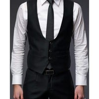 Men Fashion Slim Design Black Serge Vest M/L/XL@S5X05C-1b $24.88 only in eFexcity.com.