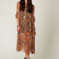 Daughters of the Revolution Sheer Paisleys Dress at Free People Clothing Boutique