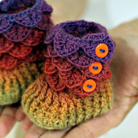 Crocodile Stitch Booties (Baby Sizes) - Crochet Pattern PDF - Permission to Sell Finished Items