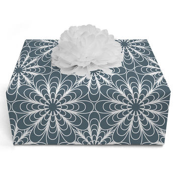Heather Dutton Flora Midnight Wrapping Paper - 2' x 10' Roll