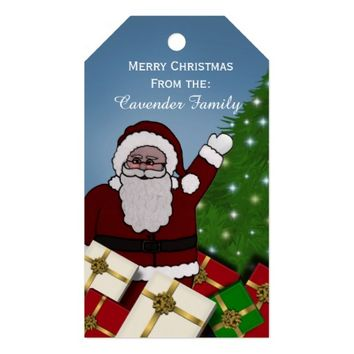 Personalized Santa Clause Christmas Gift Tags