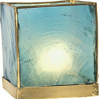 Capiz Cube Tea Light Candle Lantern - PC02TU