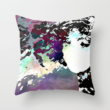 LADY-SILEX-3 Throw Pillow by Pia Schneider [atelier COLOUR-VISION]
