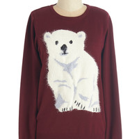 Sugarhill Boutique Critters Mid-length Long Sleeve Polar Paw-pposites Sweater