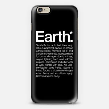 Earth available for a limited time only iPhone 6 case by WORDS BRAND | Casetify