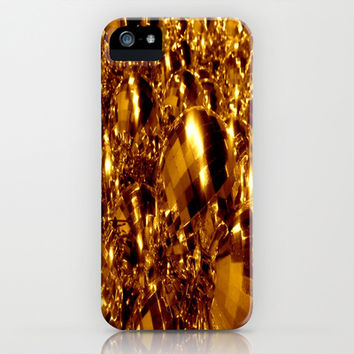 Gold Christmas Ornaments iPhone & iPod Case by 2sweet4words Designs