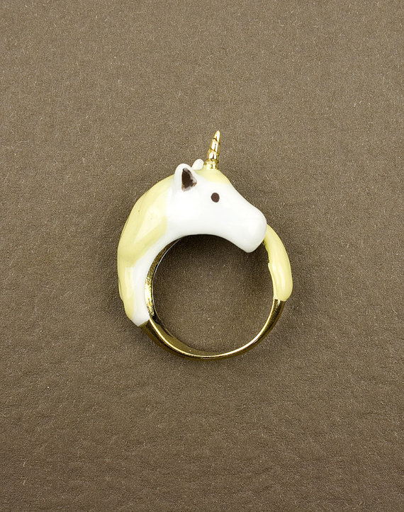 Yellow Unicorn Ring