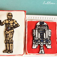 Star Wars R2D2 and C3PO Cookies